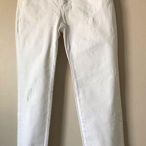 Michael Kors Jeans - Michael Kors skinny distressed white jeans size 2